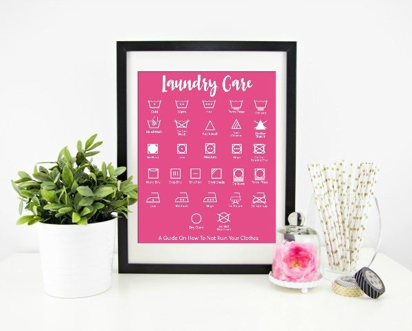 Laundry Care Printable – A Guide To Not Ruin Your Clothes