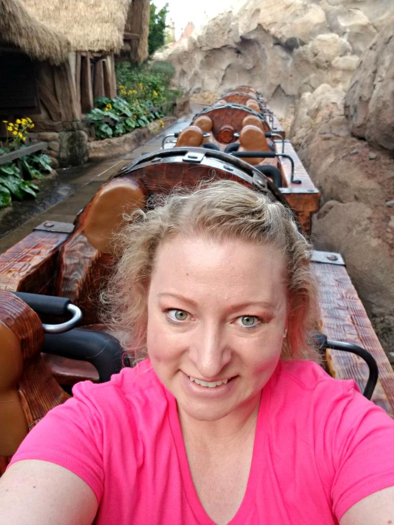One person on 7 Dwarfs Mine Train Ride