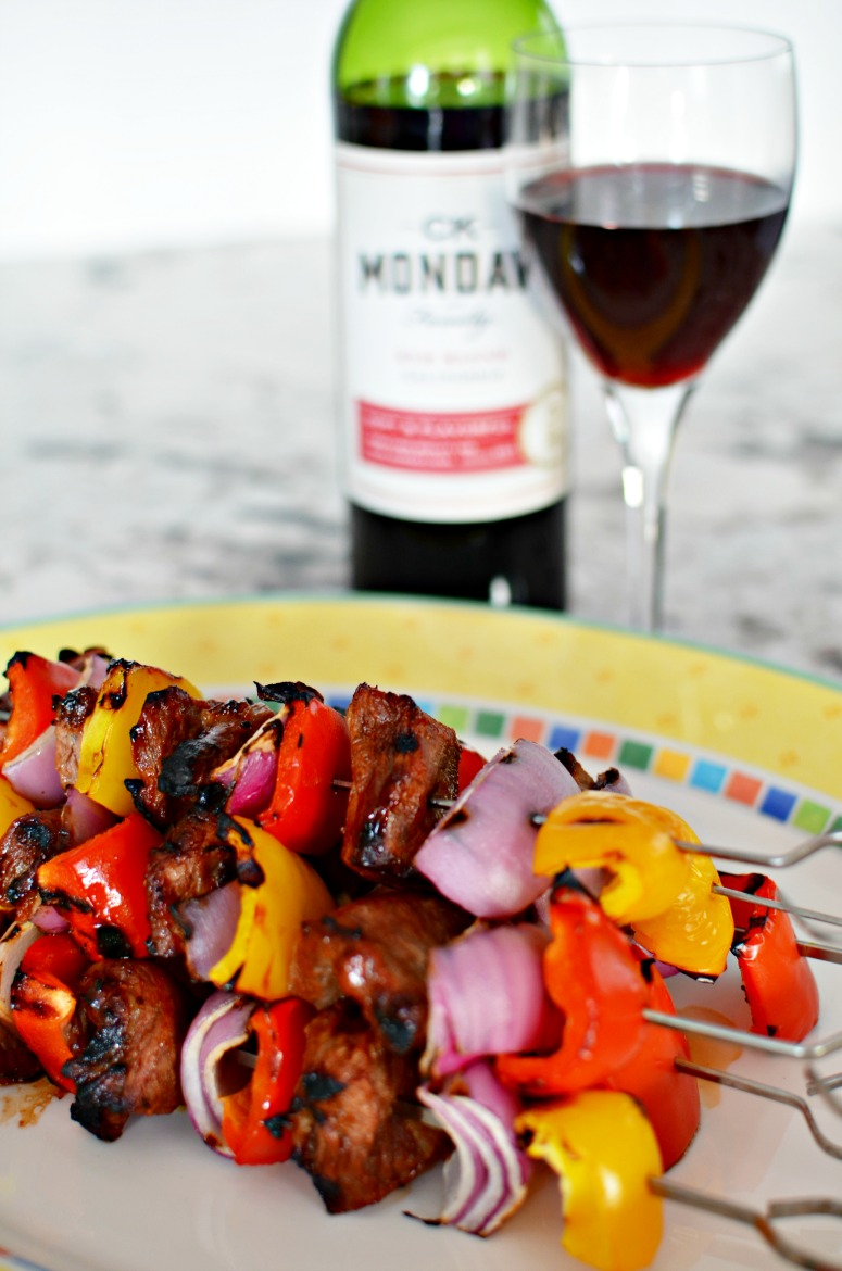 Grilled Beef Kebabs with CK Mondavi