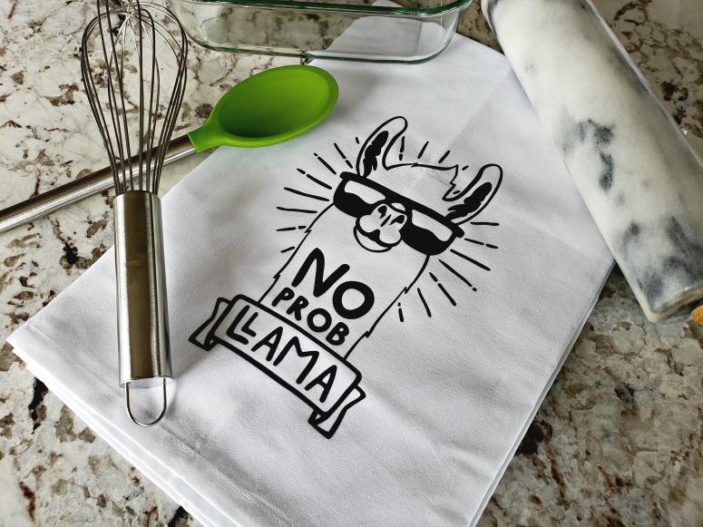 No Prob Llama Dishtowel on Etsy