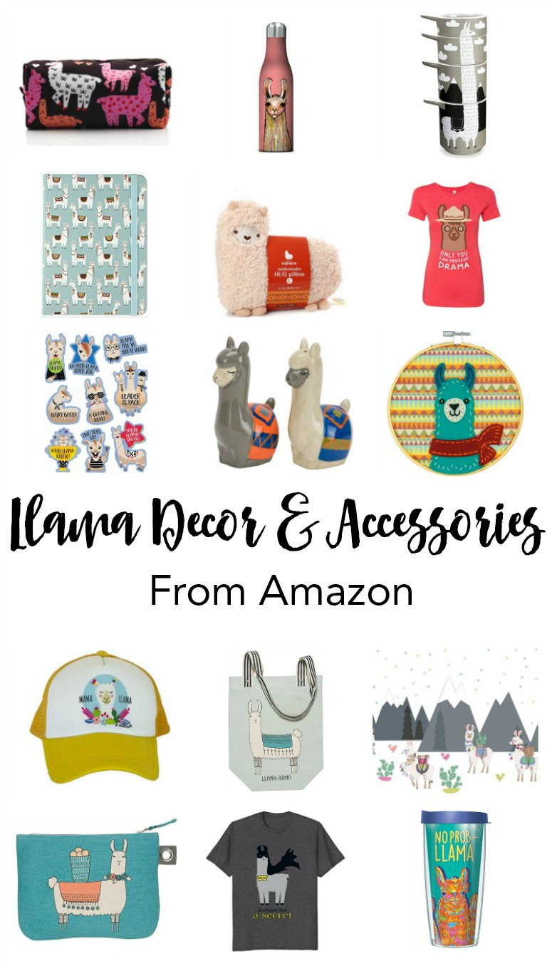 Llama Decor and Accessories on Amazon