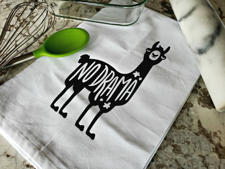 No Drama Llama Dishtowel on Etsy