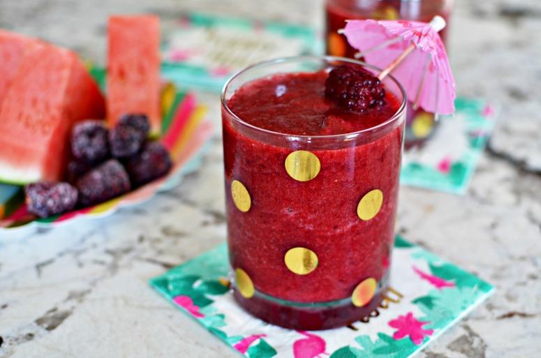 Watermelon and Blackberry Summer Slushie