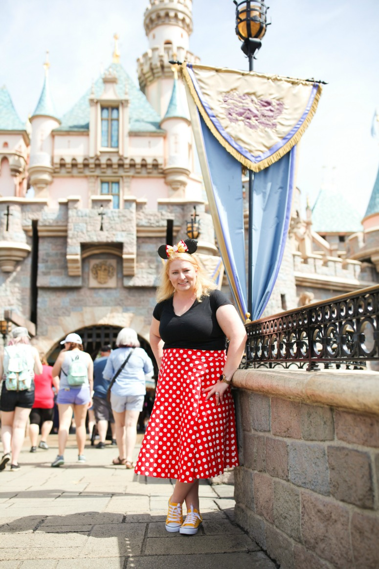Minnie Mouse Skirt Outfit Disneyland Castle