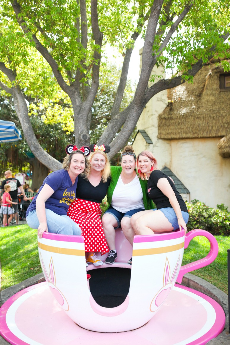 A Girl's Weekend At Disneyland - Alice In Wonderland Teacups