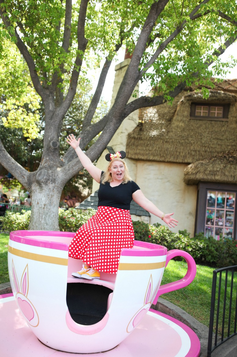 Minnie Mouse Outfit at Disneyland Teacups