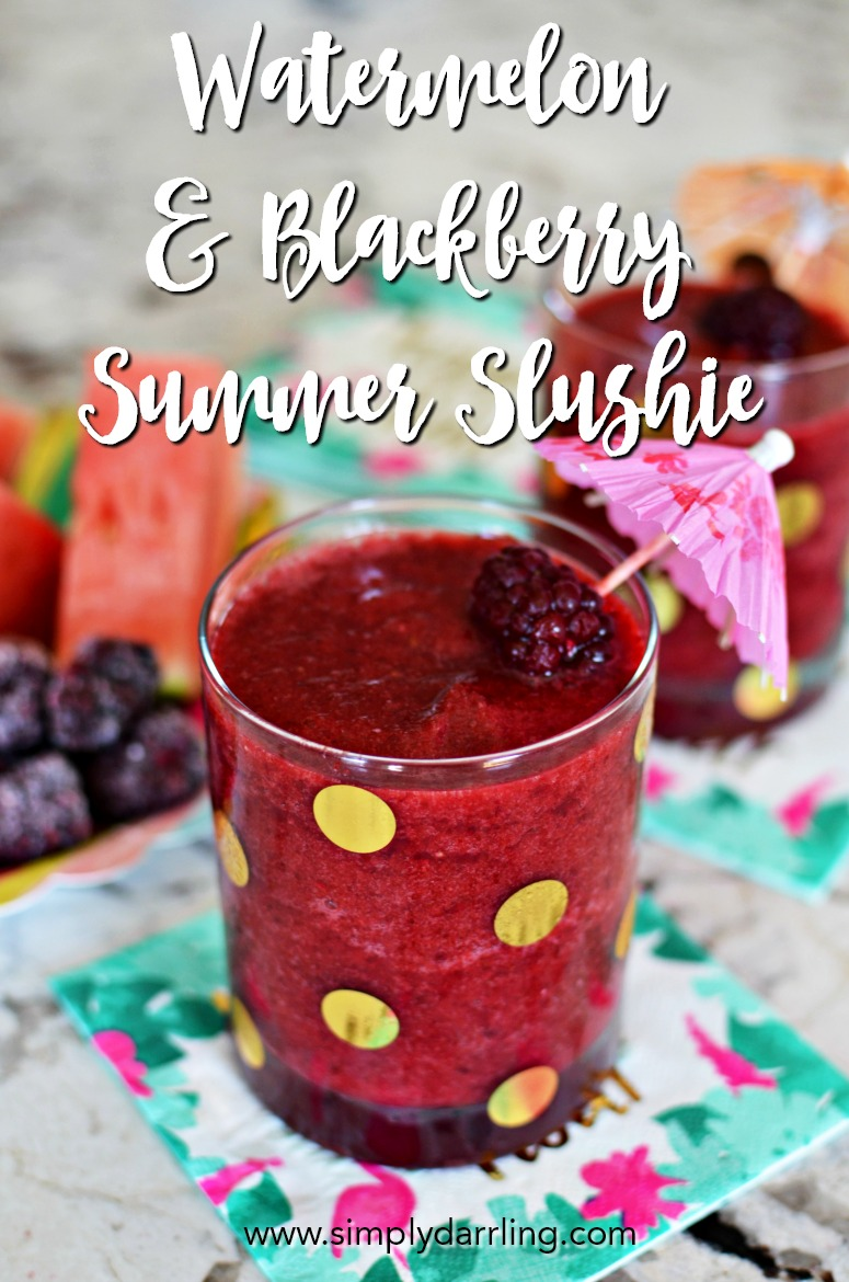 Watermelon and Blackberry Summer Slushie
