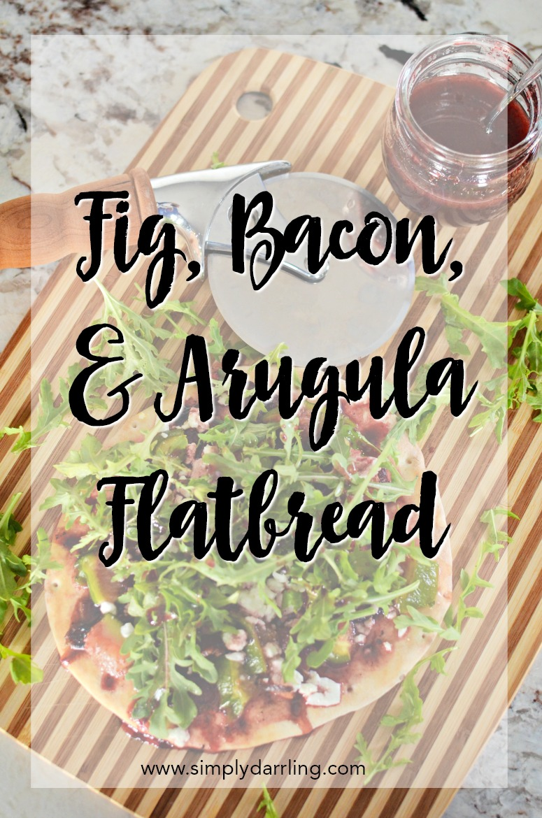Fig, bacon, arugula flatbread featuring Open Nature by Albertsons