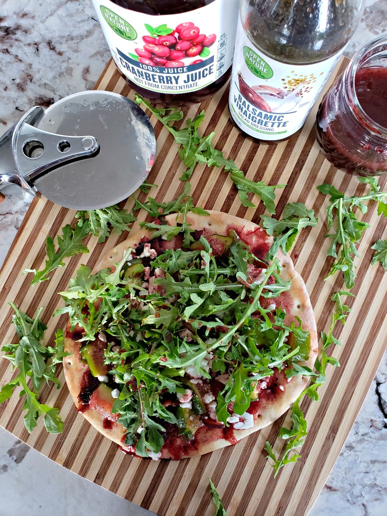 Fig, Bacon, and Arugula Flatbread featuring Open Nature Products