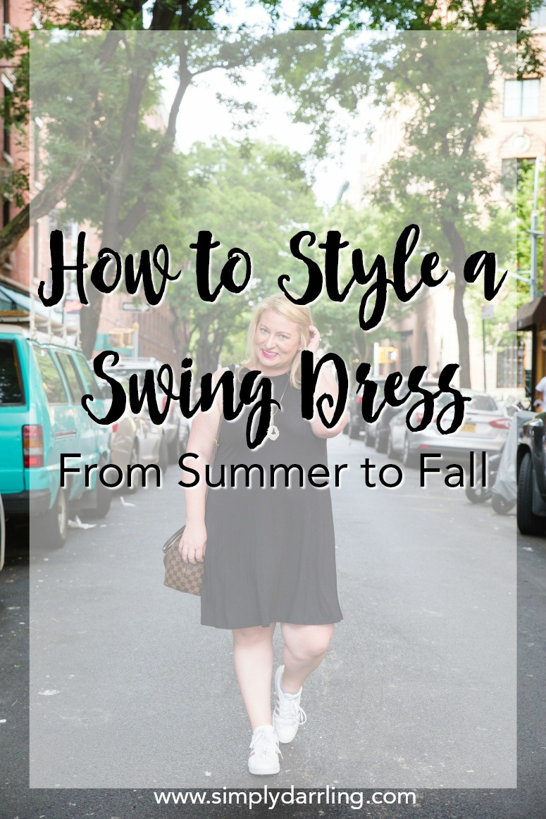 How to style a swing dress from summer to fall