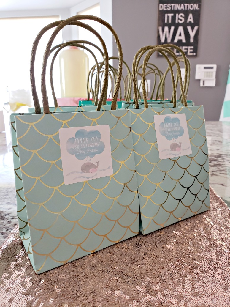 Rose Gold Themed Baby Shower Gift Bags