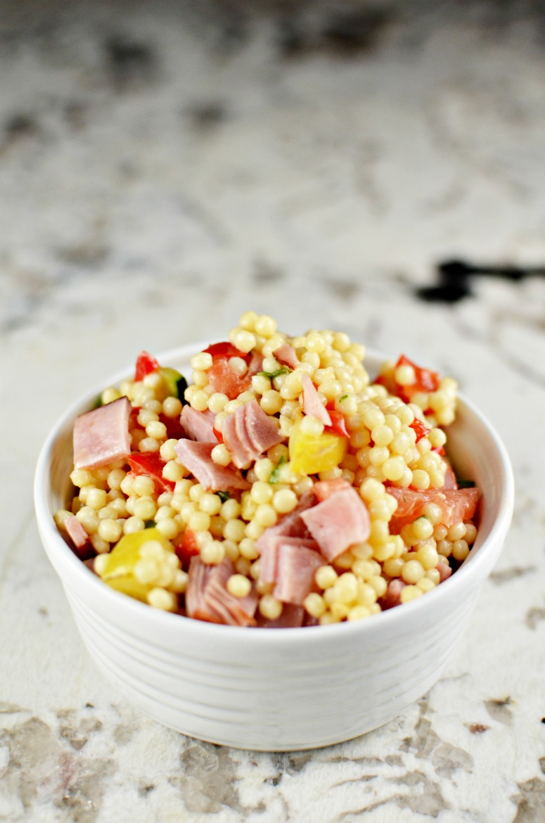Couscous Ham Vegetable Salad