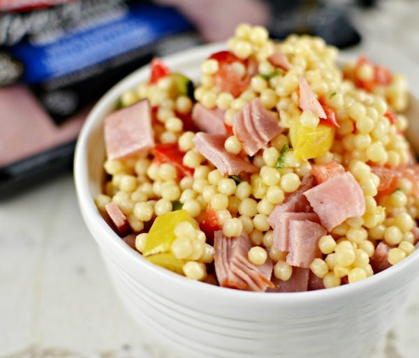 Gourmet Couscous Vegetable and Ham Salad