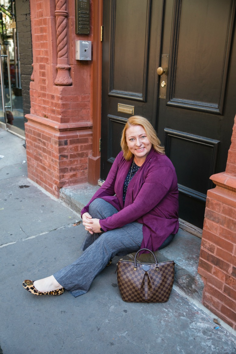 Fall Business Casual Outfit with Maroon Jacket
