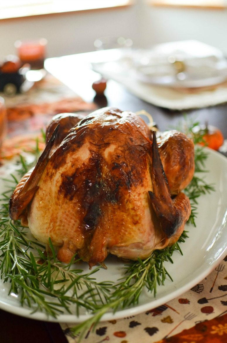 Easy Delicious Thanksgiving Turkey with Apple Cider Brine