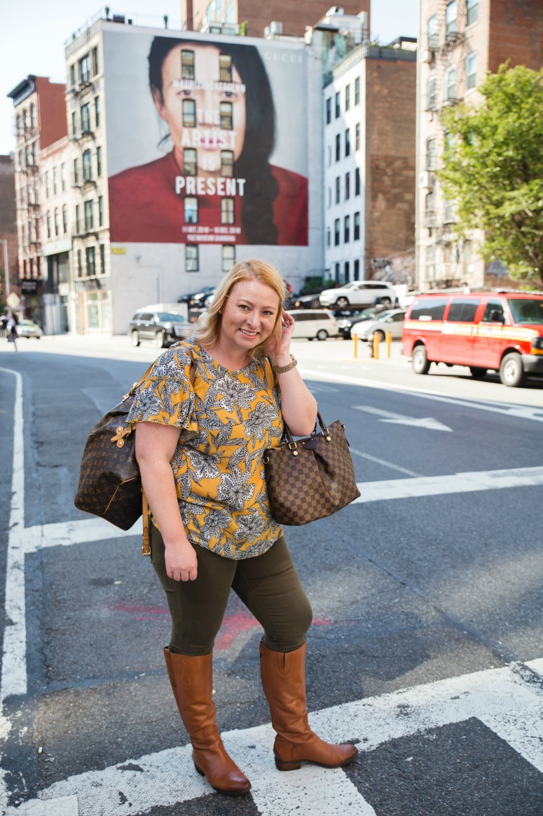 Fall Business Casual Outfit with brown Boots