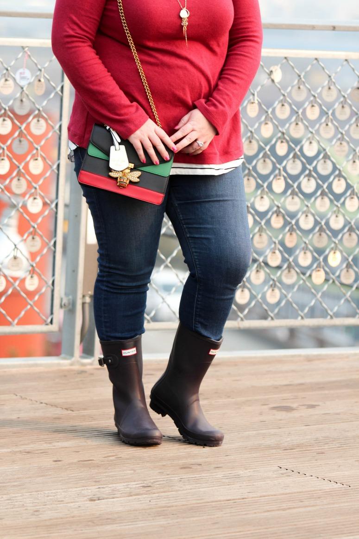 How to wear Short Purple Hunter Rain Boots