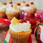 Pineapple Upside Down Inspired Cupcake