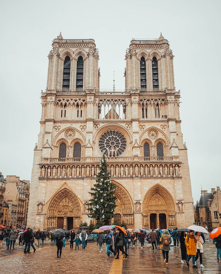 Notre Dame Paris in Winter