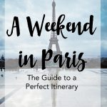 Planing the perfect itinerary for a weekend in Paris