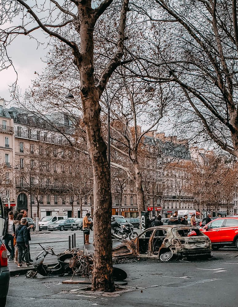 Yellow Vest Protest Damage in Paris