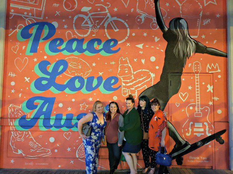 Peace, Love, Austin Mural