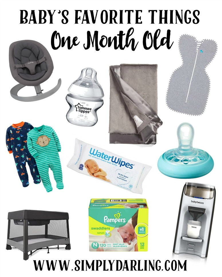 Baby's Favorite Items at One Month Old