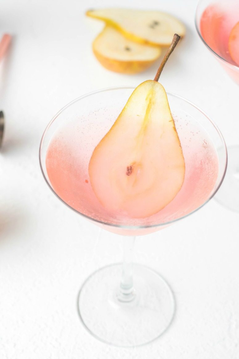 Sparkling Prickly Pear Martini