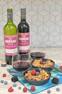 Personal Cast Iron Skillet Berry Crisp Paired with CK Mondavi Sweet Sunset Red