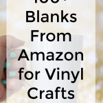 100 blanks from Amazon for vinyl crafting