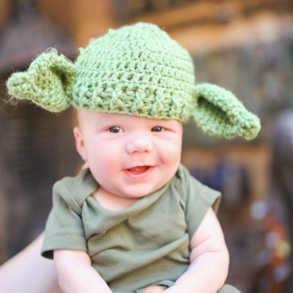 DIY Yoda Costume for Baby