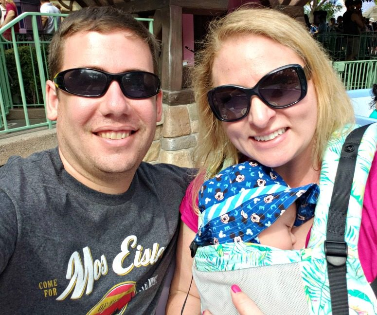 Couple with Baby at Disney