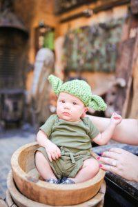 Easy DIY Yoda Disney Bounding Costume for Baby