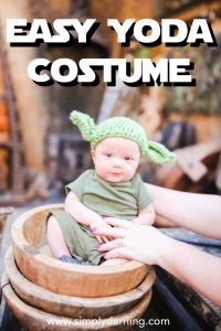 Easy DIY Yoda Disney Bounding Costume for Baby