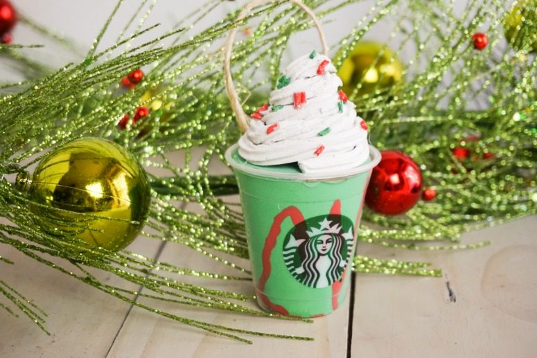 DIY Starbucks Frappuccino Ornament