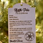 Unique Ornaments for Baby's First Christmas - Santa Telegram