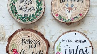 Baby's First Christmas Ornament/ Baby Ornament/ Personalized Ornament/ Wood/Rustic/ Shower Gift/ First Christmas/ My First Christmas