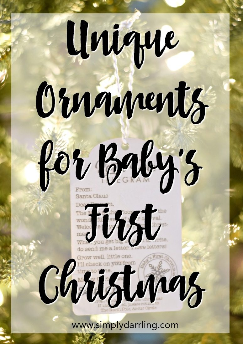 Unique Ornaments for Baby's First Christmas