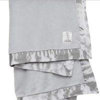 """Little Giraffe Luxe Stroller Baby Blanket, Silver, 29"""" x 35"""""""