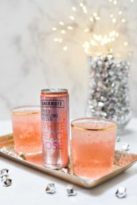 Ginger Peach Smash Cocktail featuring Smirnoff Seltzer