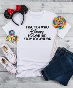 DIY Disney Tee - Friends and Disney flatlay