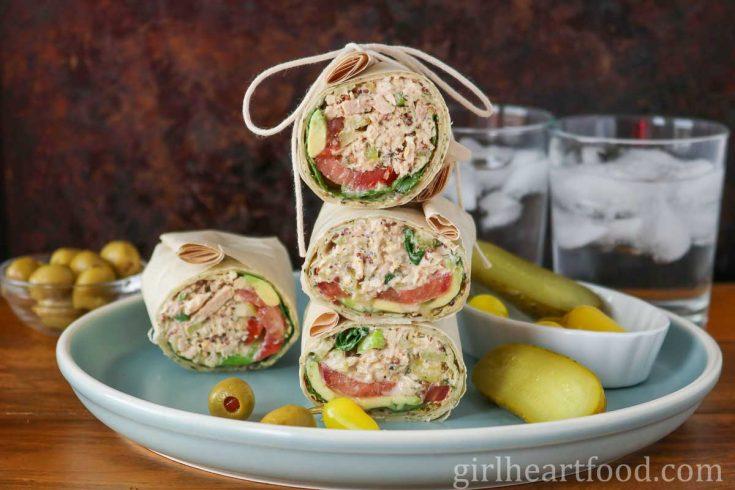 Tuna Salad with Greek Yogurt {on a wrap}