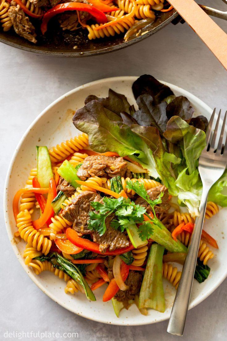 Vietnamese Beef Pasta Stir-Fry (Nui Xao Bo)