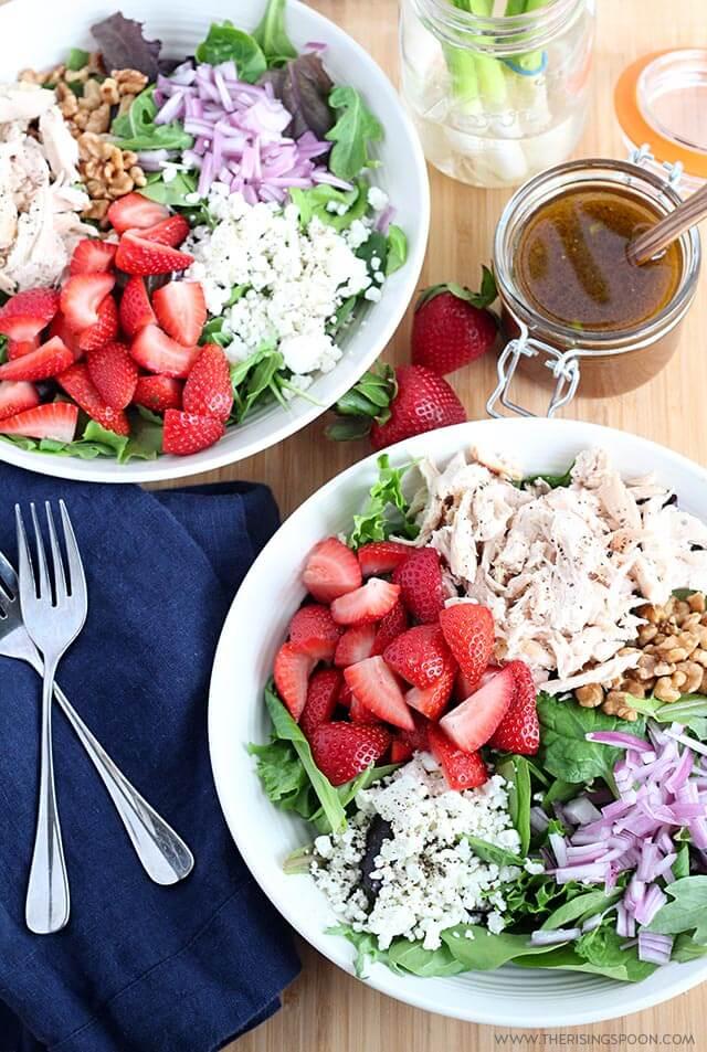 Strawberry Chicken Salad with Balsamic Vinaigrette