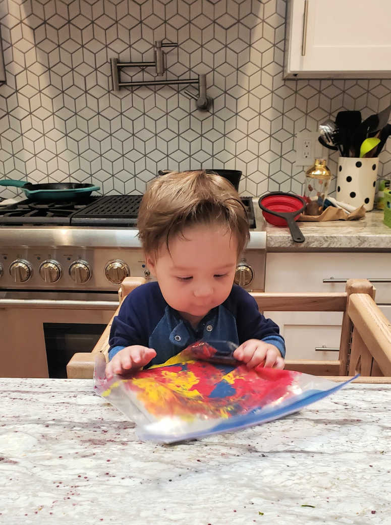 Painting Canvases - Baby Sensory Activity