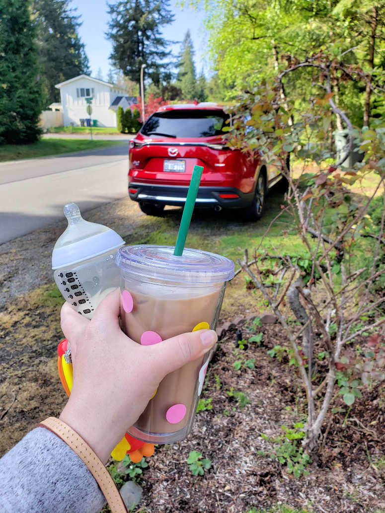Coffee in Hand - Mazda CX-9