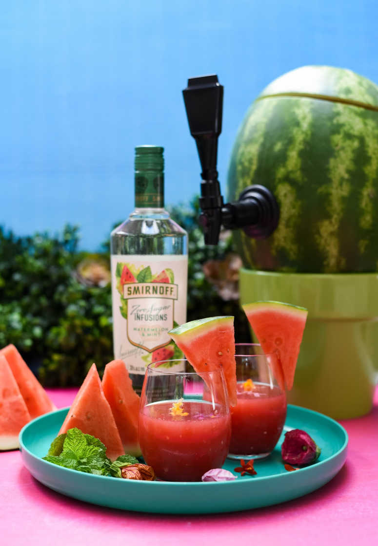 Stylized Watermelon Slush Cocktail