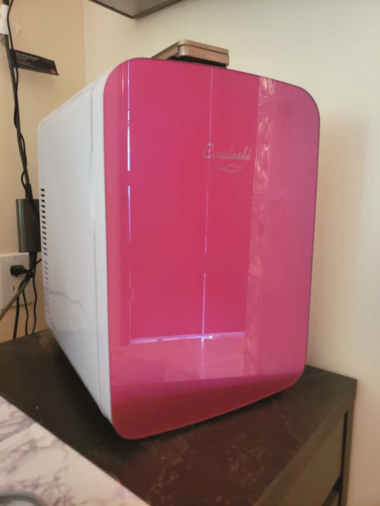 Pink Mini Bathroom Fridge