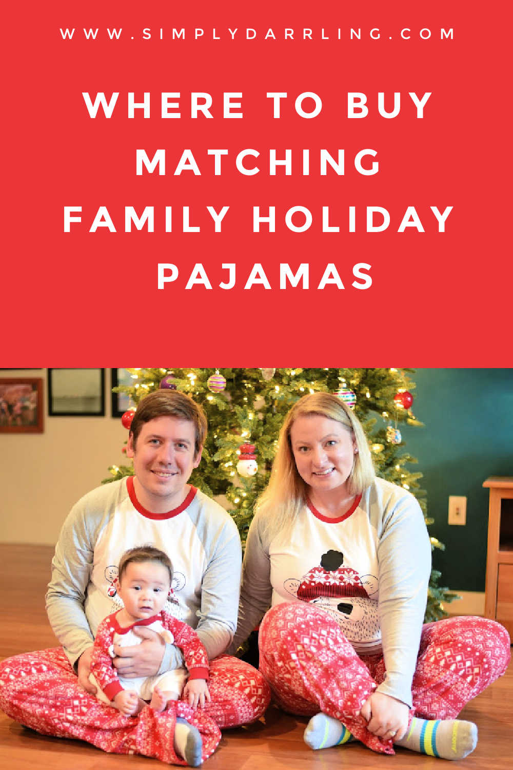 family in matching pajamas