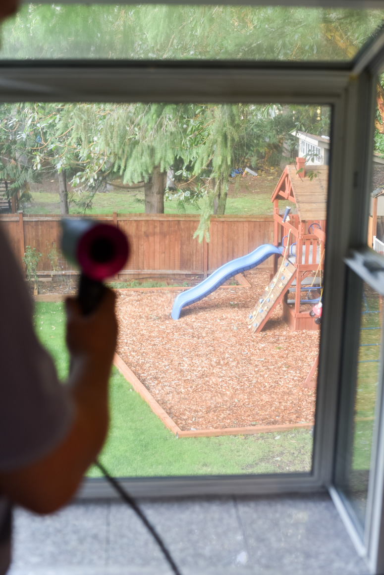 Child Playset through window